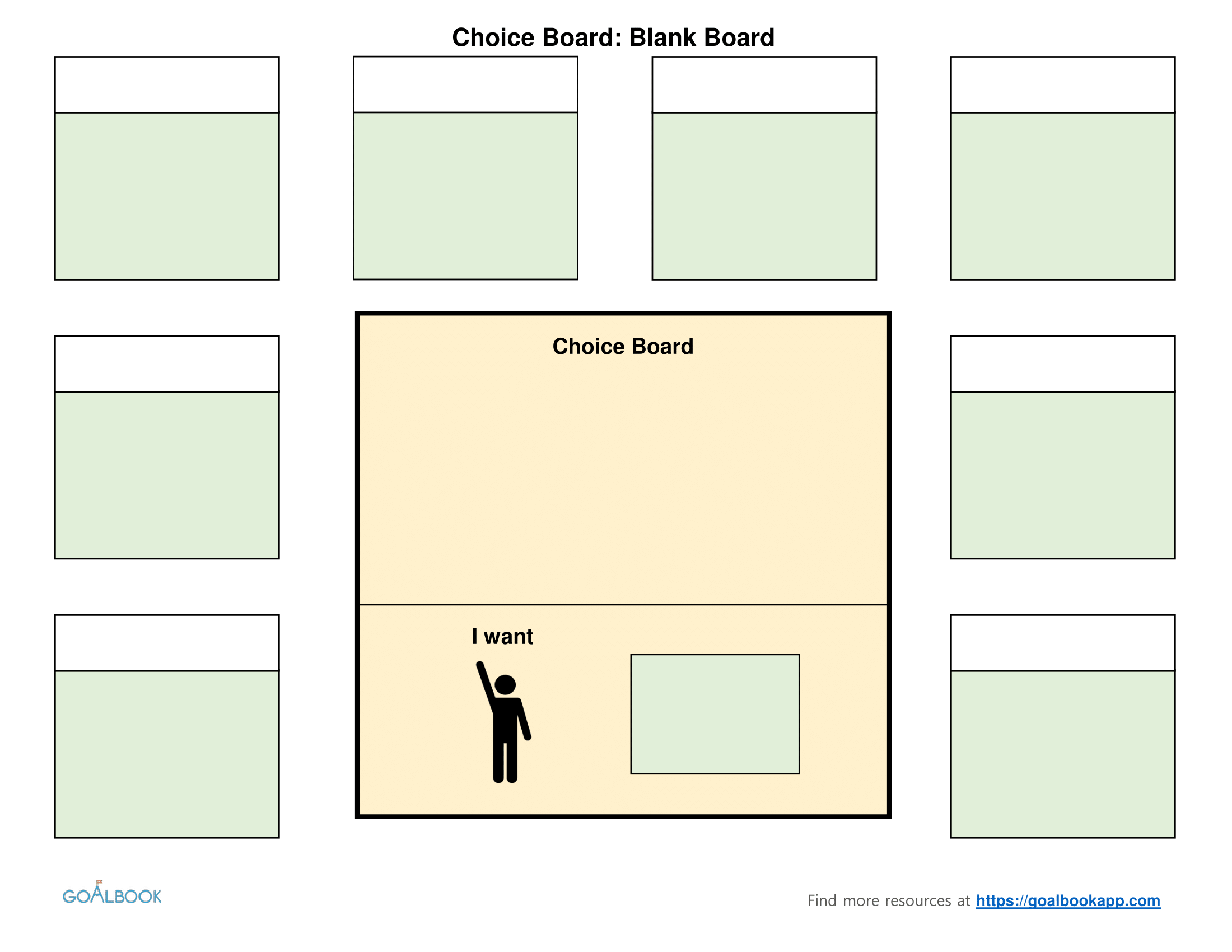 Choice boards udl strategies blank choice board template pronofoot35fo Gallery