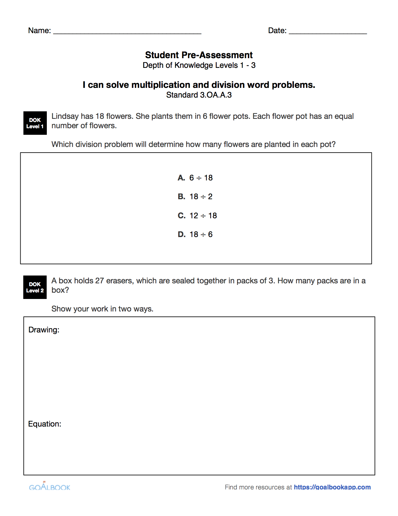 multiplication and division word problems pdf