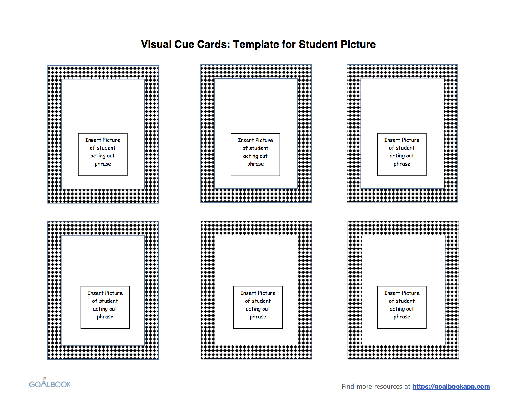 Blank Visual Cue Cards