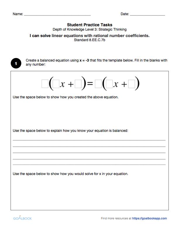 8.ee.7 worksheet pdf