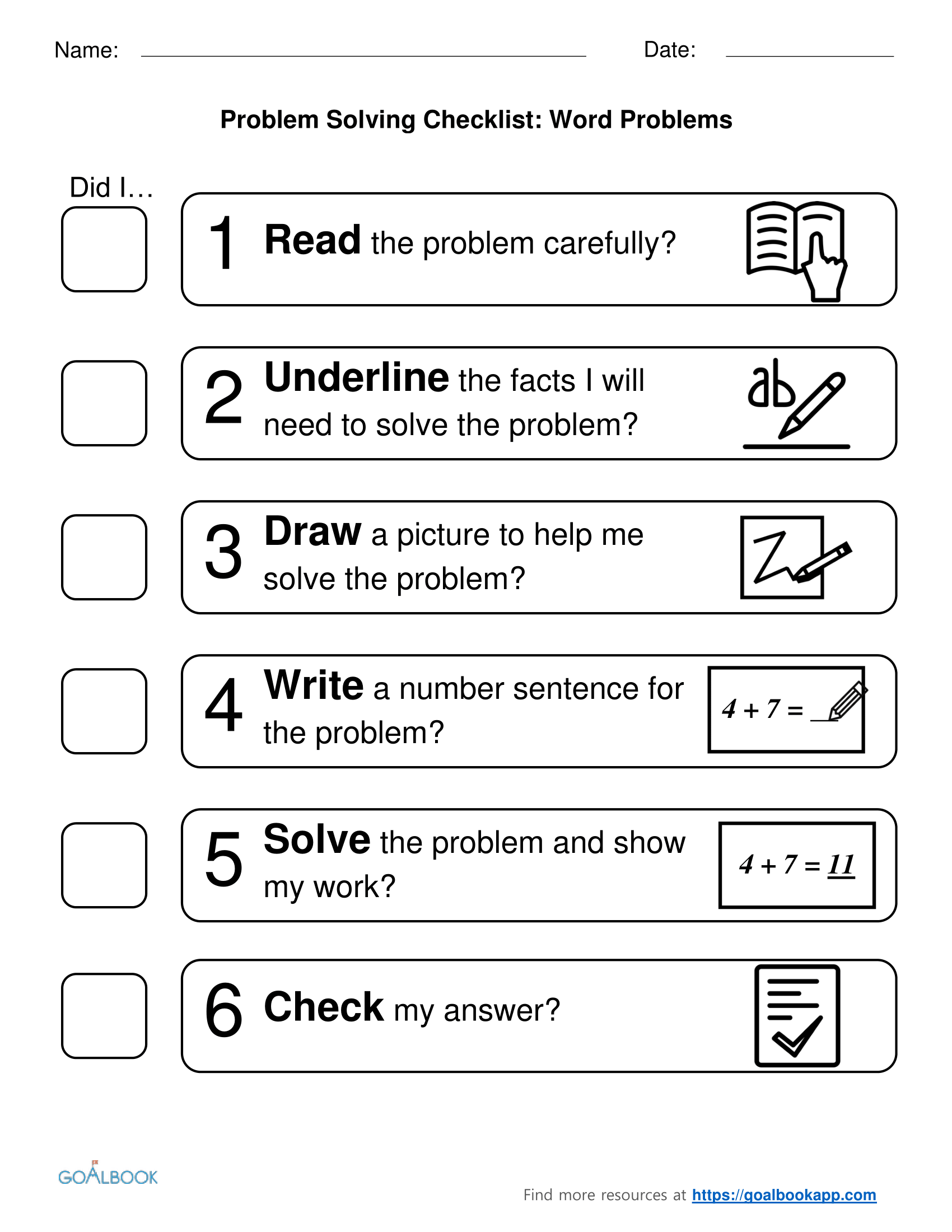 Worksheet 2 Step Story Problems 3 oa 8 two step word problems math operations algebraic problem checklist