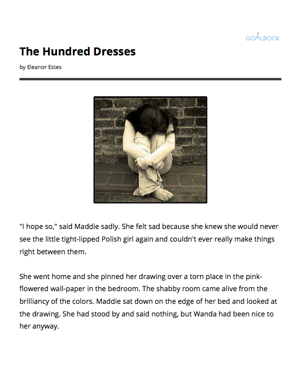 Book fair storyboard pictures the hundred dresses