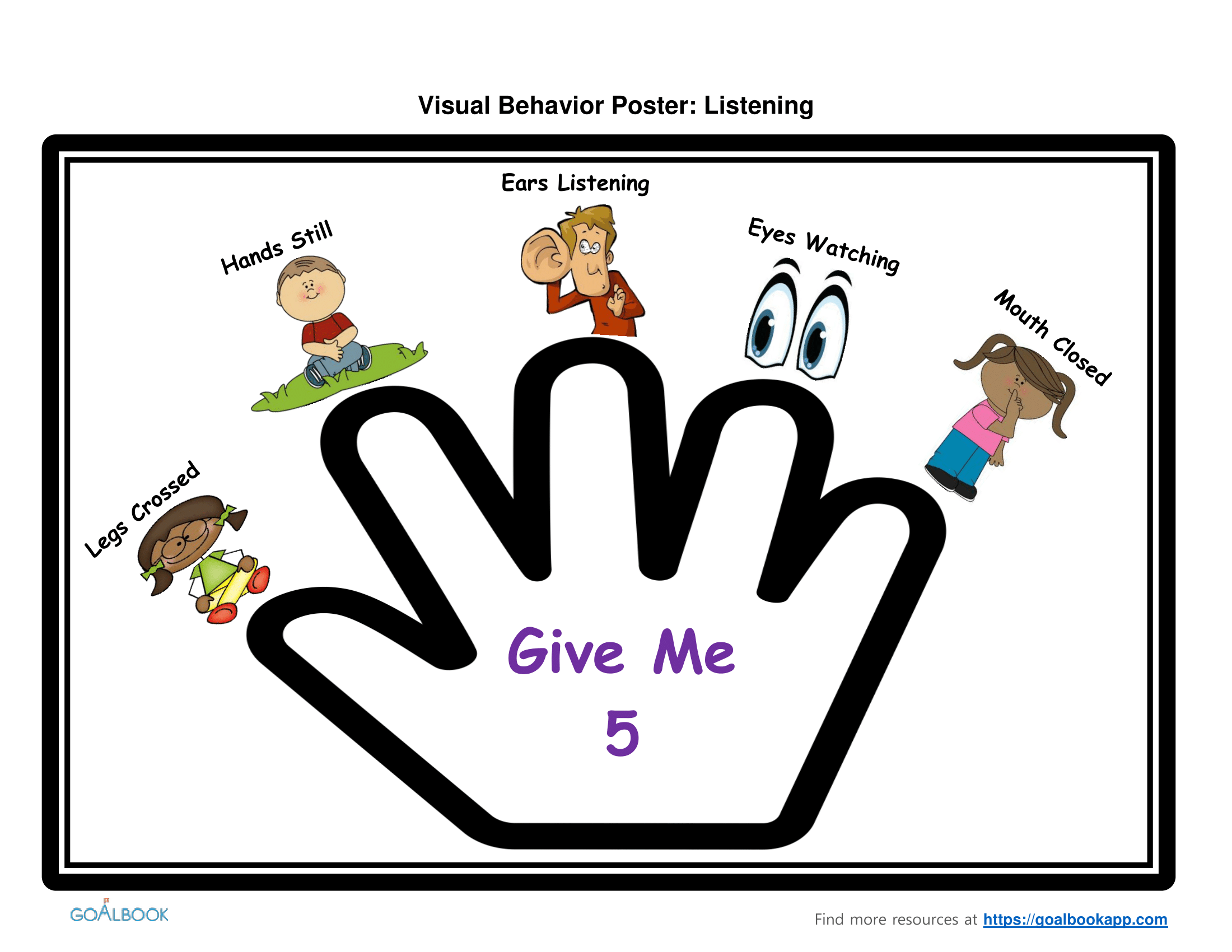 Visual Behavior Posters for Whole Class Management