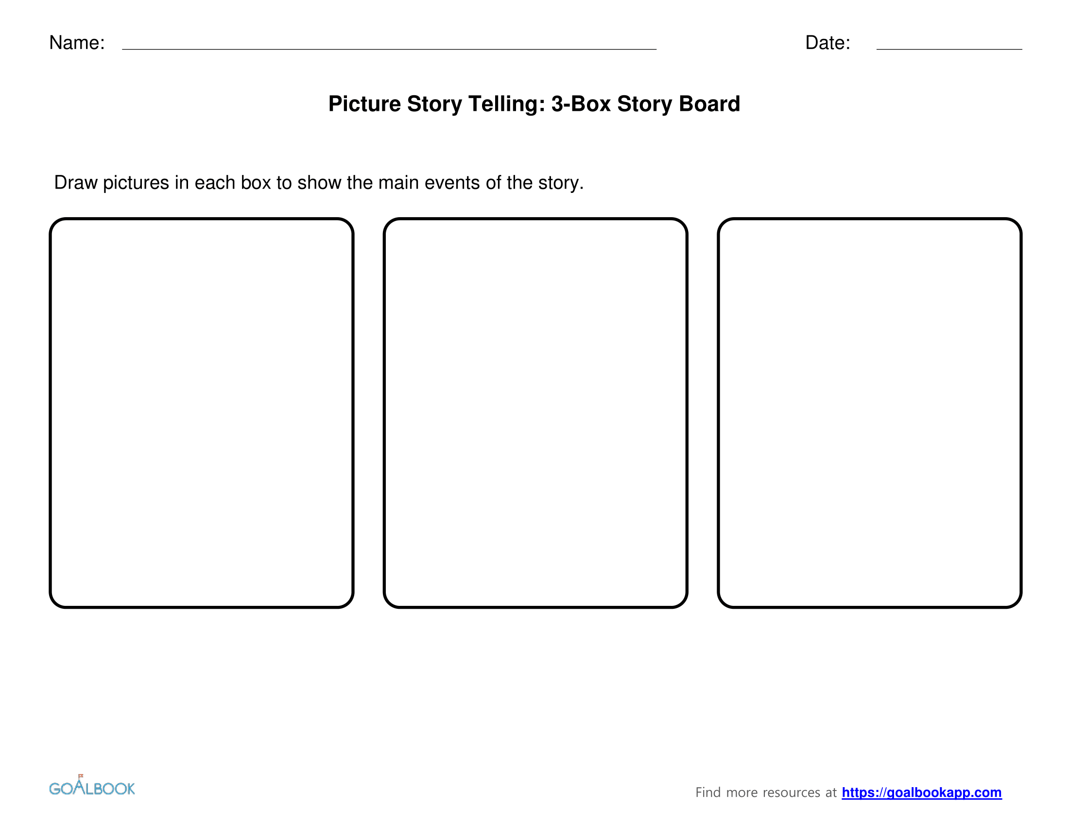 3-Box Story Board Templates