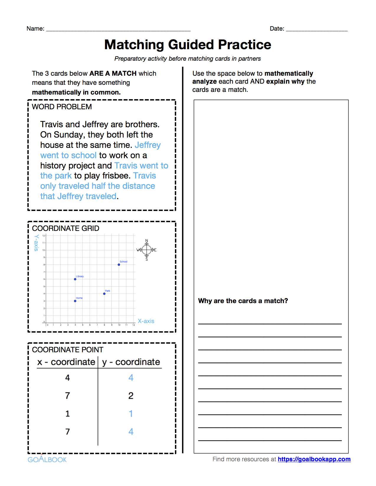 worksheet First Quadrant Grid 5 g 2 word problems involving the first quadrant math geometry exploring multiple representations coordinate grids