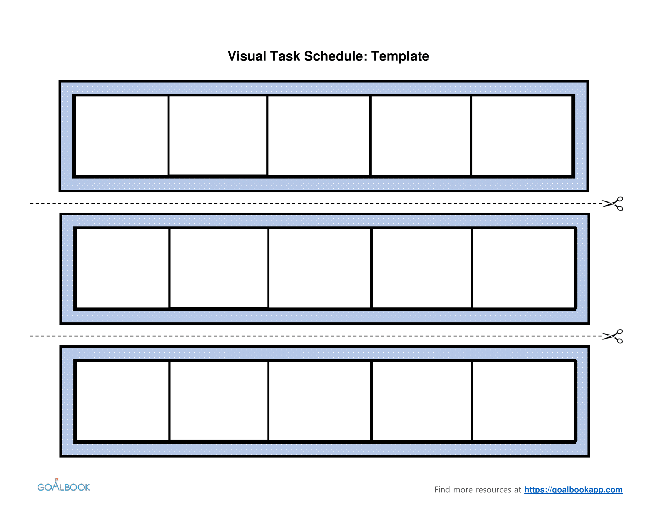 Visual Task Schedule | UDL Strategies