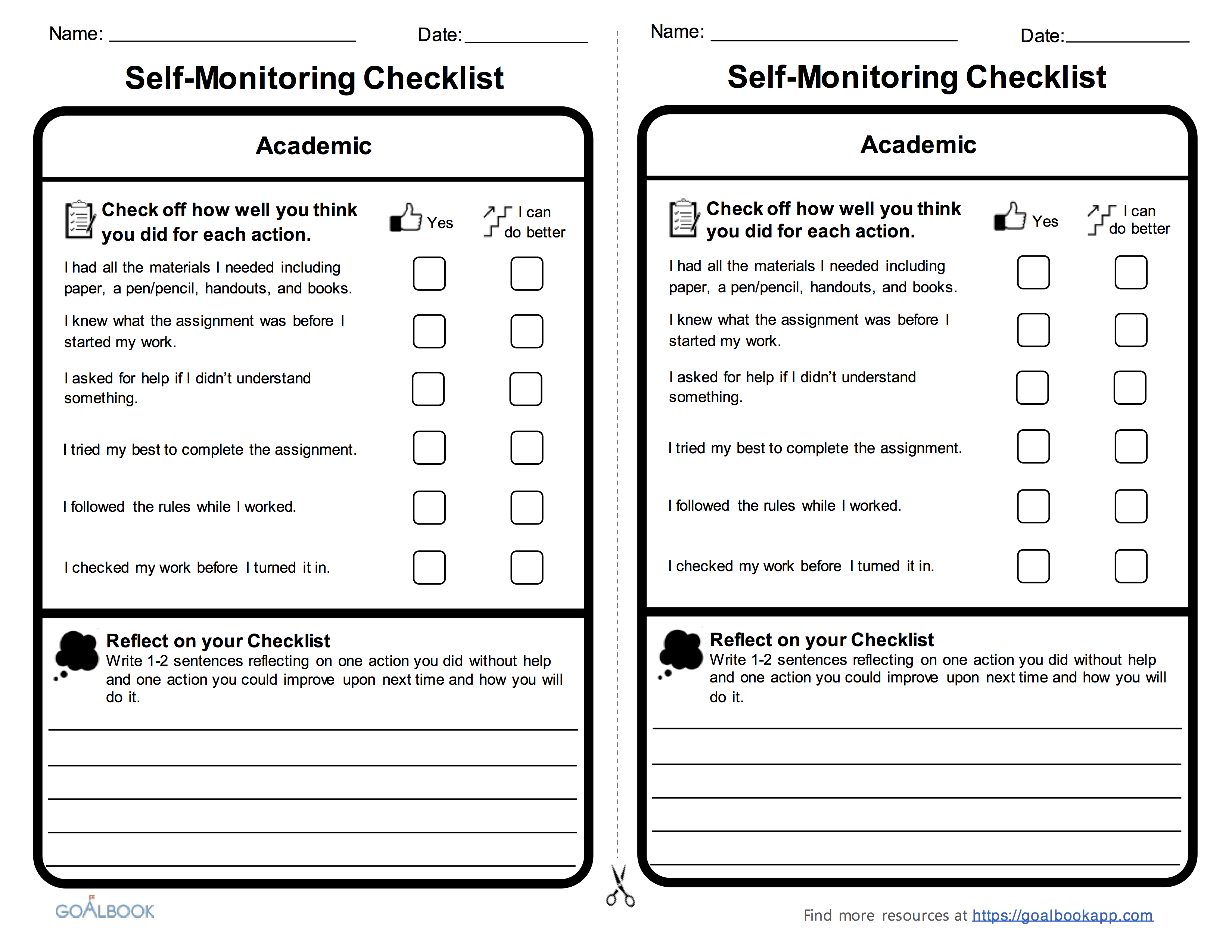 self monitoring udl strategies