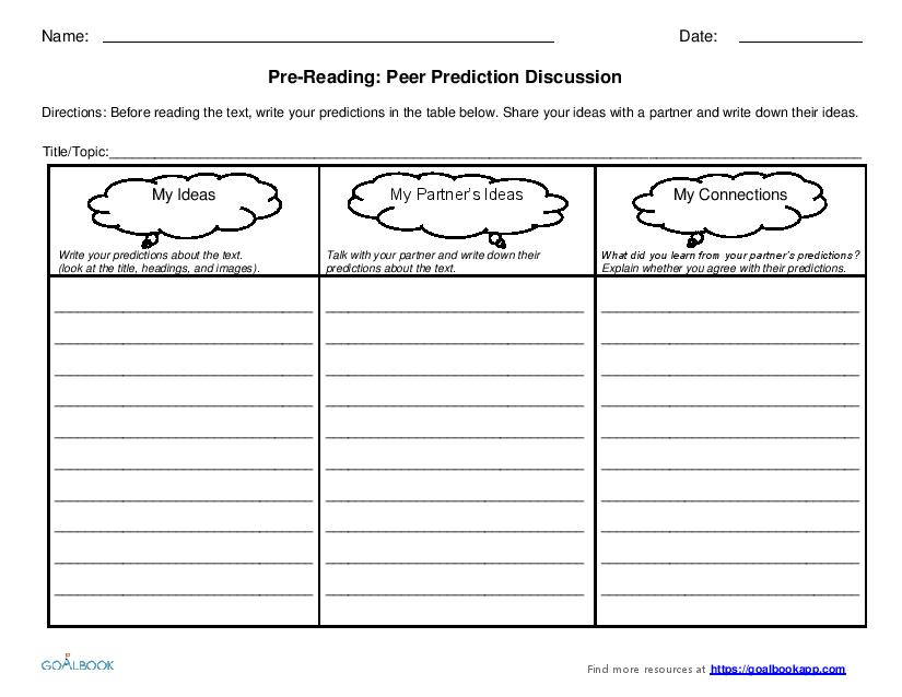 Pre-Reading Graphic Organizers (6-8)