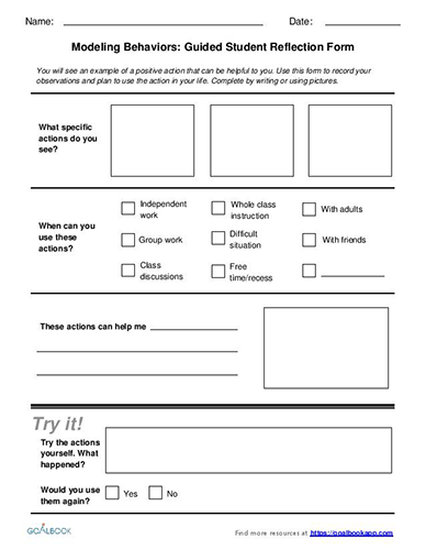 Guided Student Reflection Form