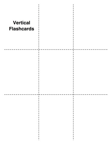 Blank Flashcards for Practicing Math Facts