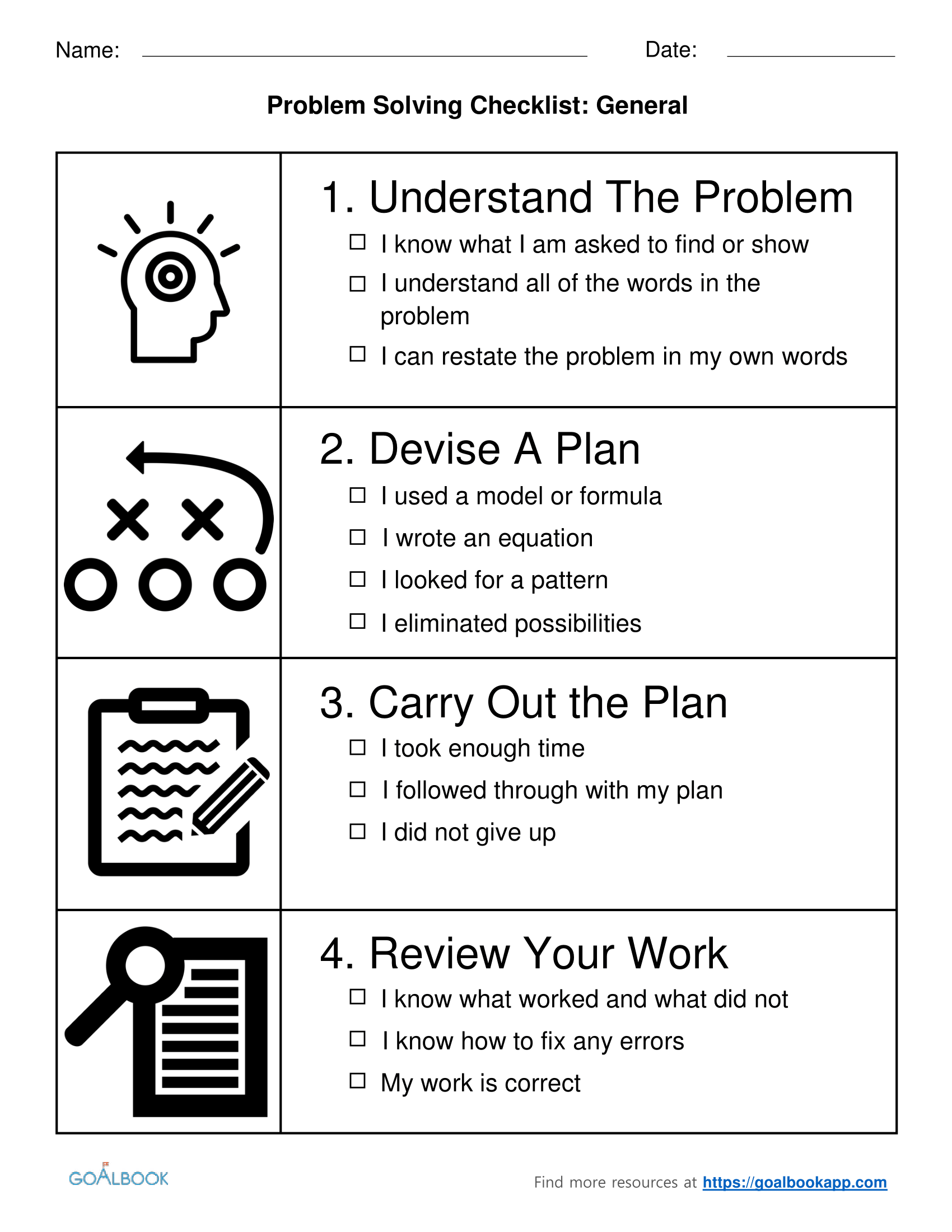 Problem Solving Checklist Udl Strategies