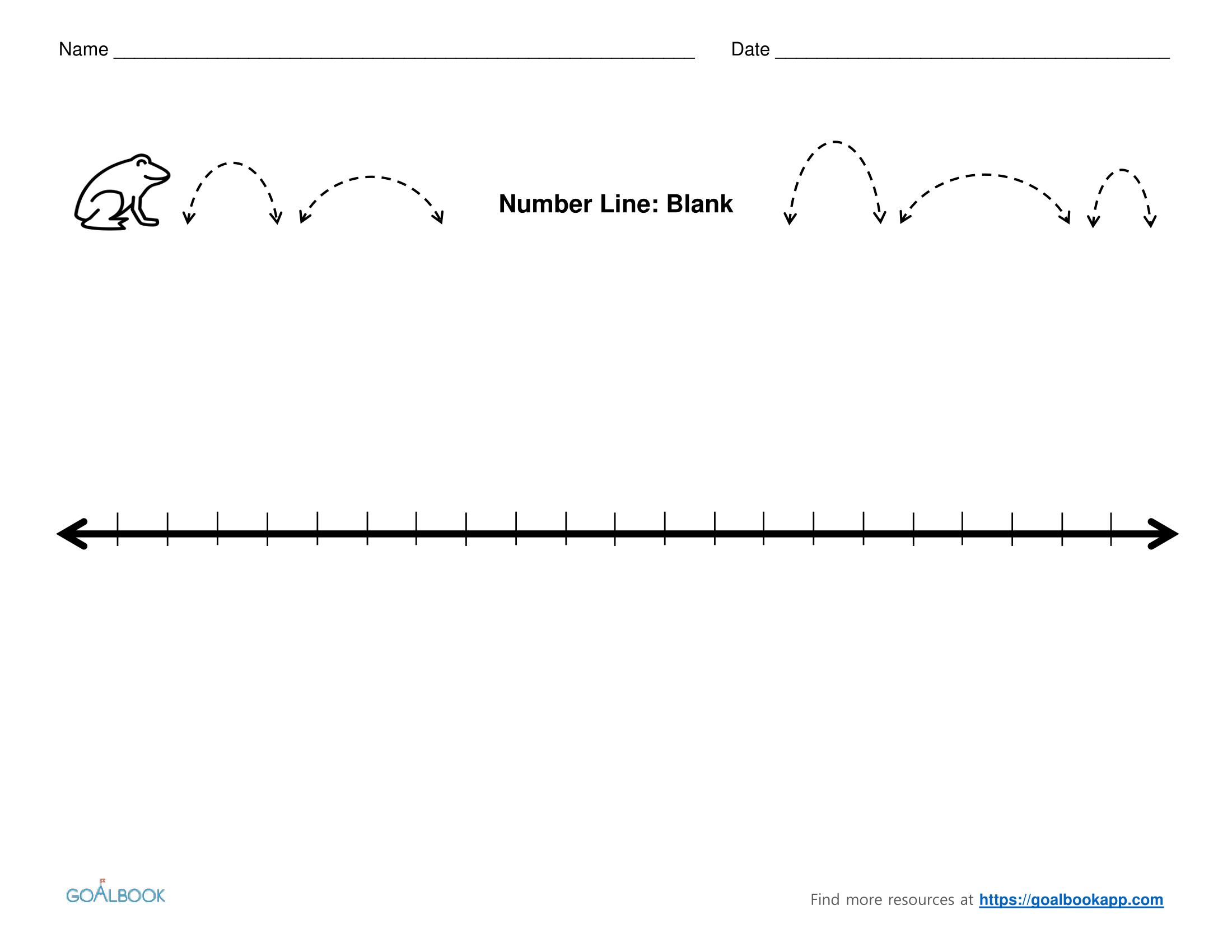 Fan image inside blank number lines printable