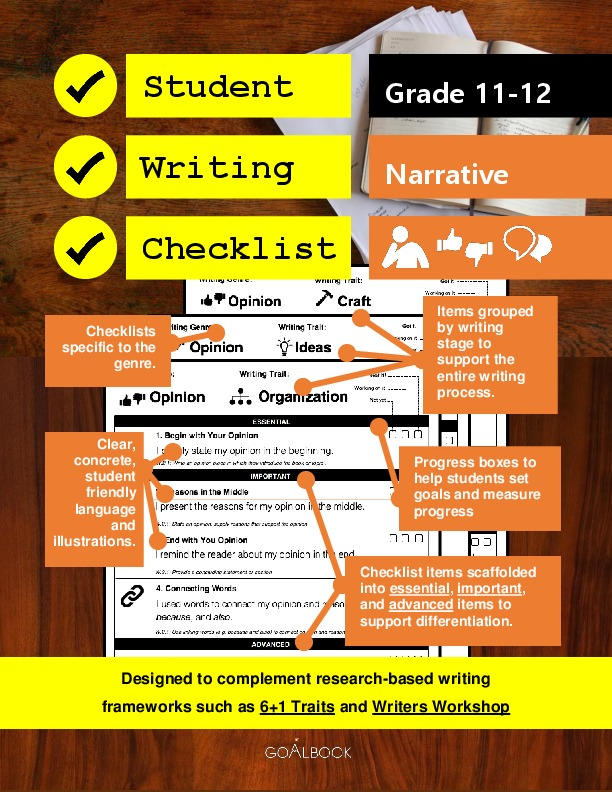 Student Writing Checklist: Narrative (Grade 11-12)