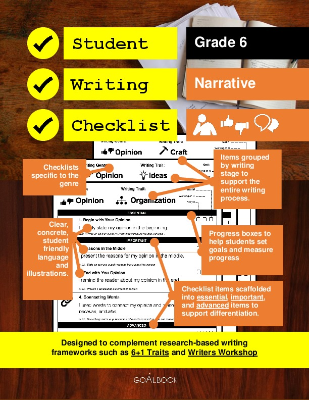Student Writing Checklist: Narrative (Grade 6)