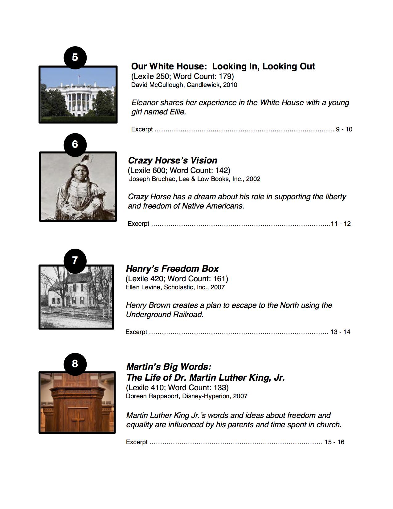 Ten informational texts symbols of freedom goalbook pathways enlarge biocorpaavc