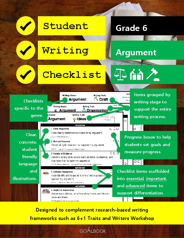 Student Writing Checklist: Argument (Grade 6)