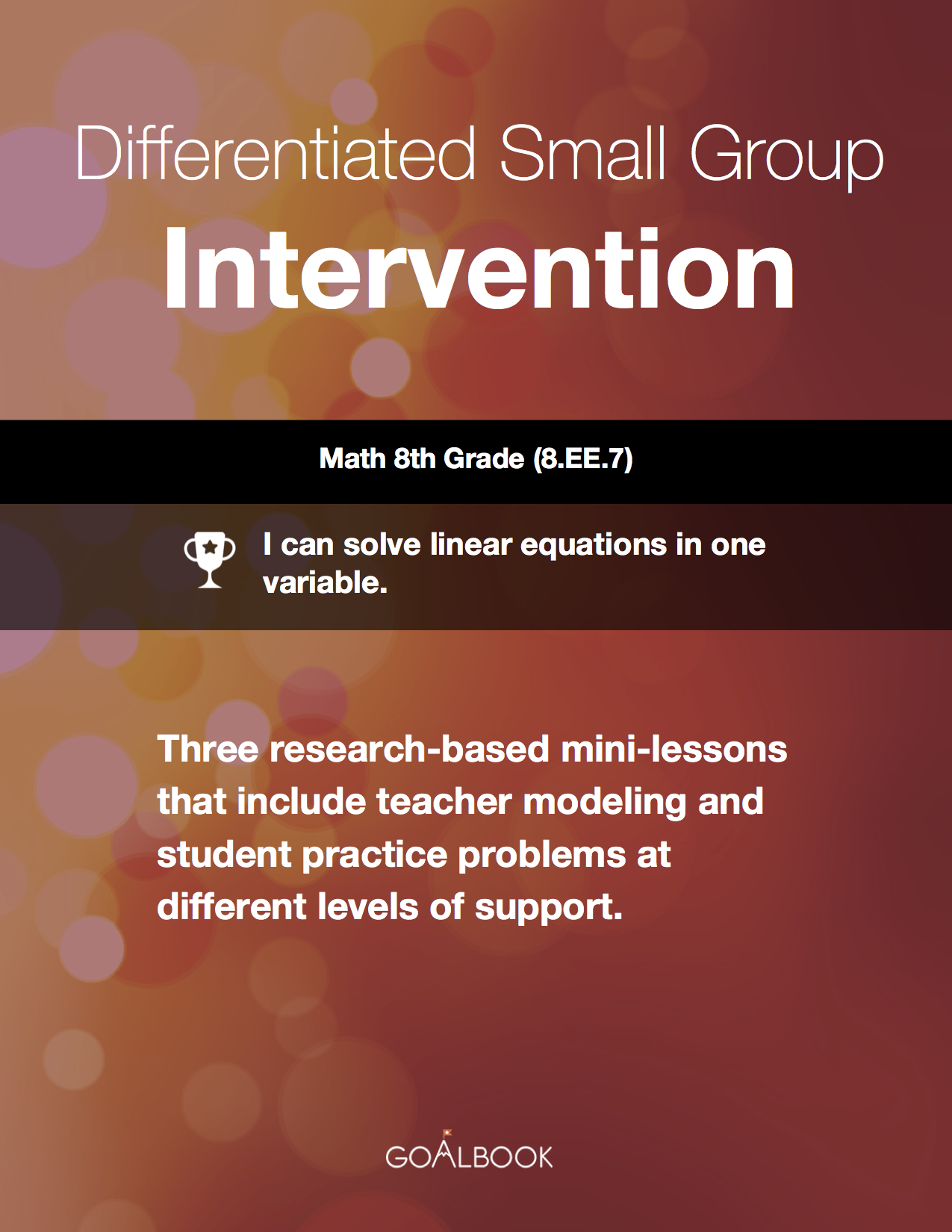 Differentiated Small Group Intervention: Solving One-Variable Linear Equations