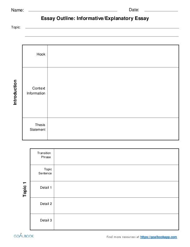 essay outline graphic organizers goalbook pathways enlarge