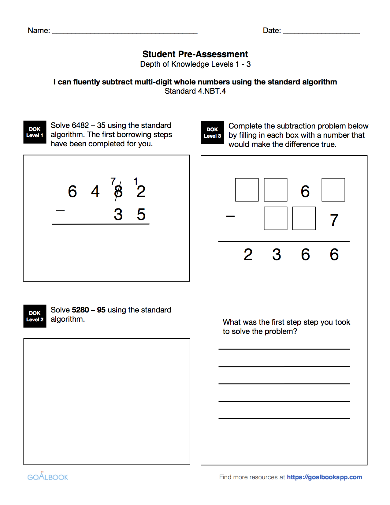 worksheet Adding And Subtracting Multi Digit Numbers 4 nbt fluently add and subtract math number operations in favorite
