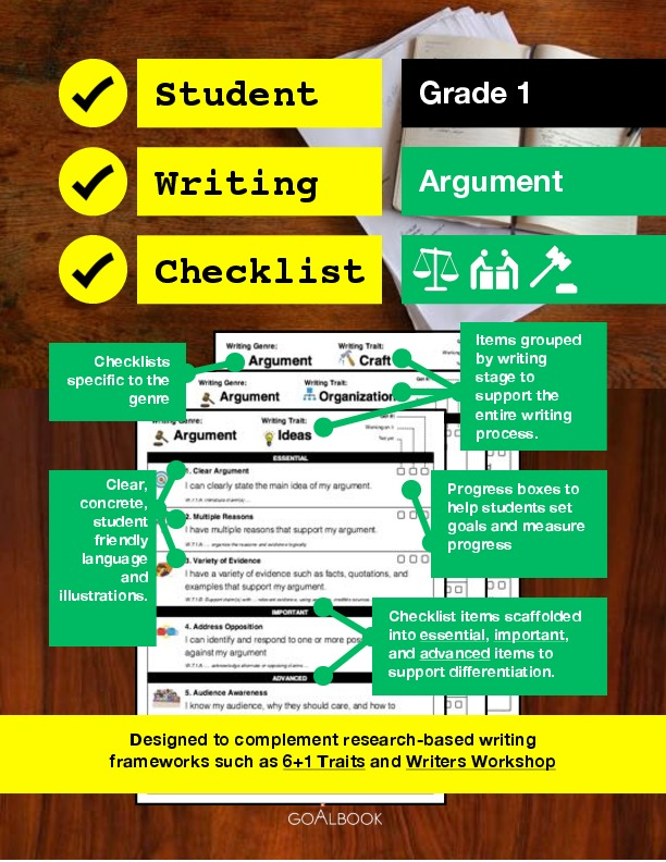 Student Writing Checklist: Opinion (Grade 1)