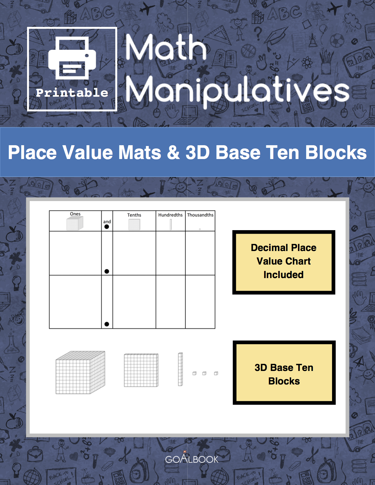 Place Value Mats and 3D Base Ten Blocks