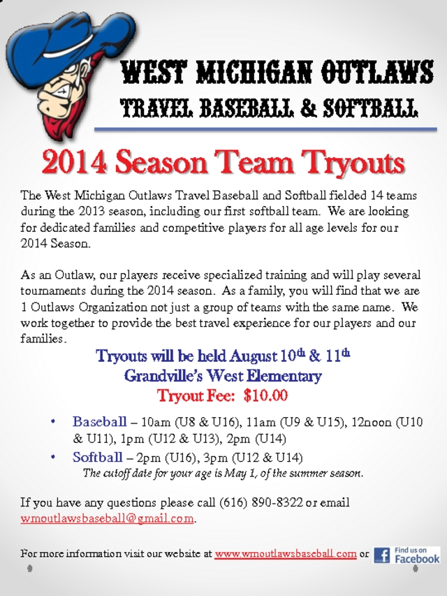 West Michigan Travel Baseball Tryouts Autos Post