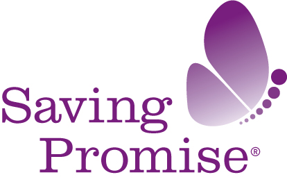 Saving promise logo   purple