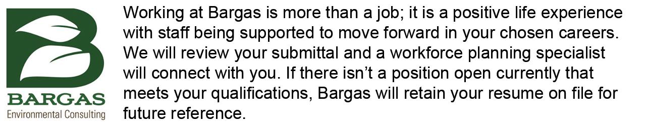 Bargas Online Employment Application