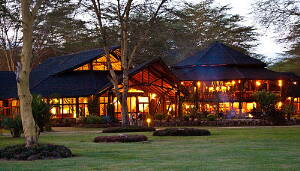 wood lodge in africa