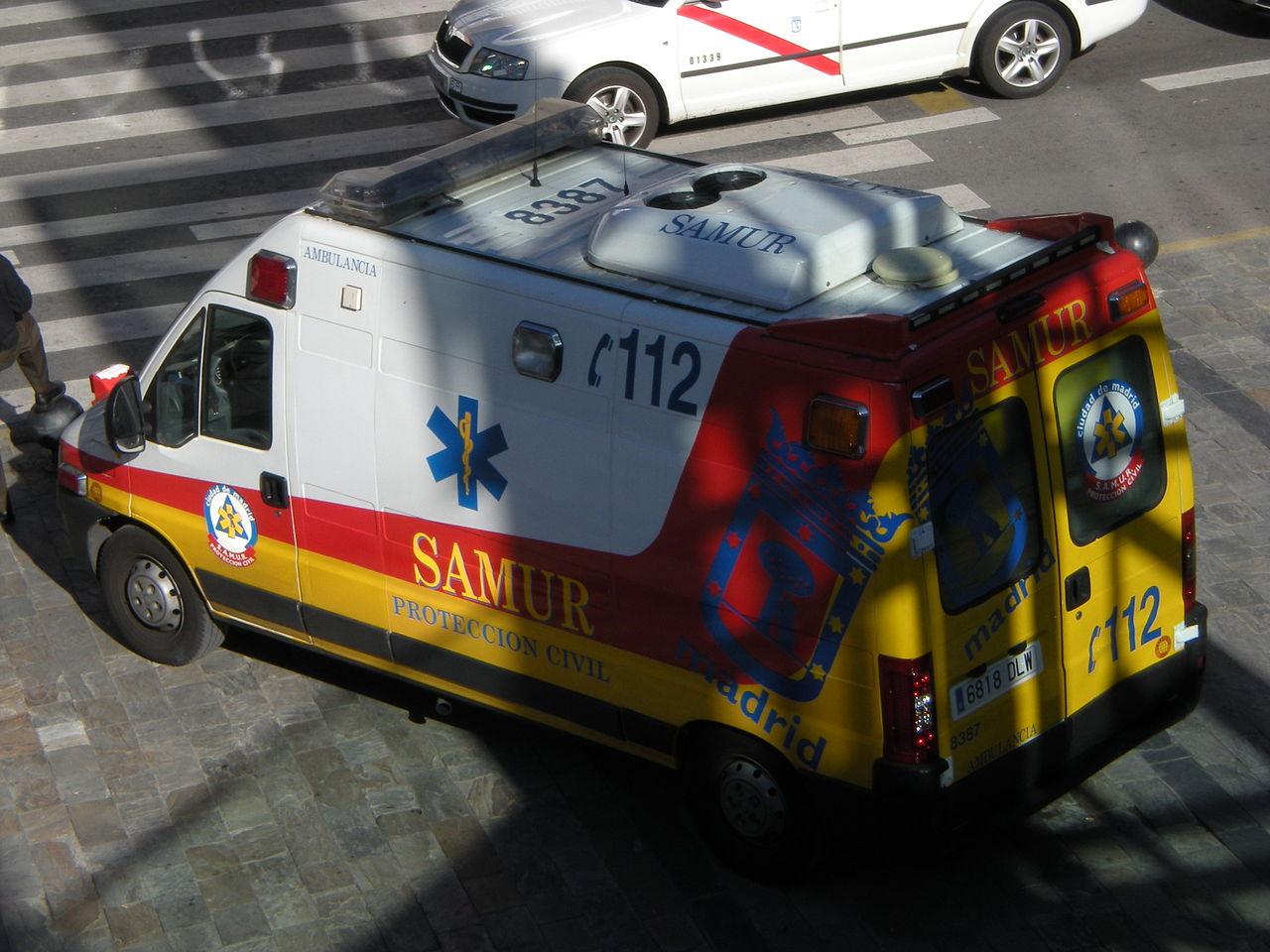 ambulancia de servicio