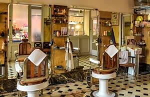 sala de una barberia