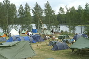 acampada de un campamento