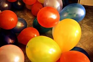 globos en una fiesta