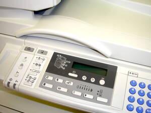Fotocopiadora en centro de copiado