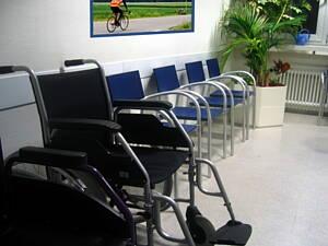 sala de espera de un centro de salud