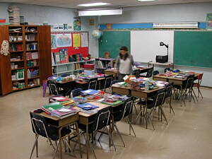 aula de un colegio de primaria