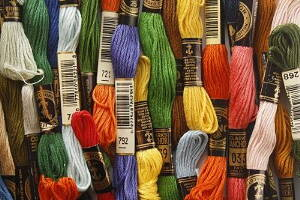 many colours of embroidery floss