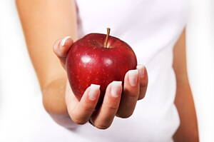 apples are very rich in fibre
