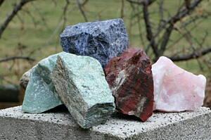 piezas de minerales