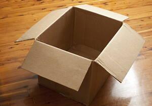 caja para hacer la mudanza