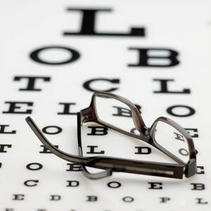 Tabla optométrica usada por oftalmólogos