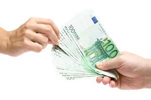 dinero de prestamo