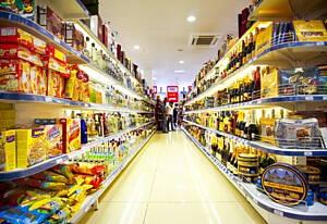 pasillos de un supermercado