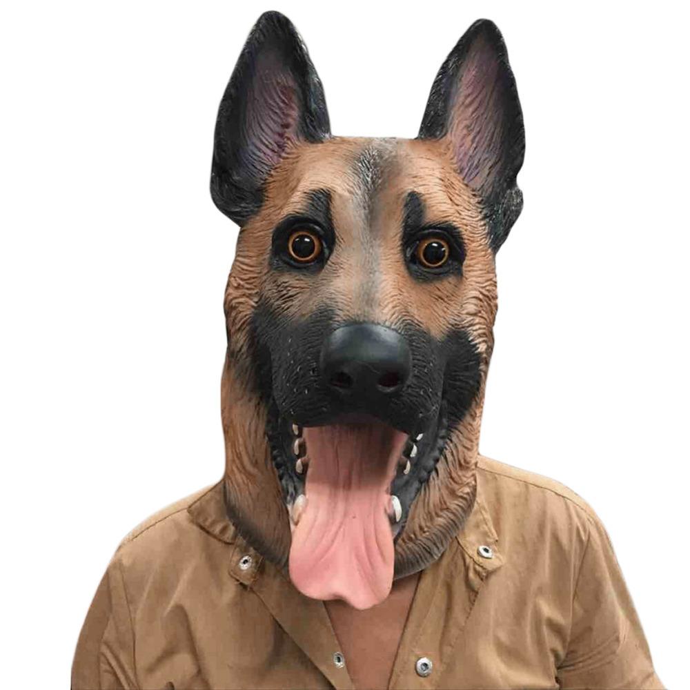 Dog Mascot Adult Full Face Animal Costume Funny Halloween Mask