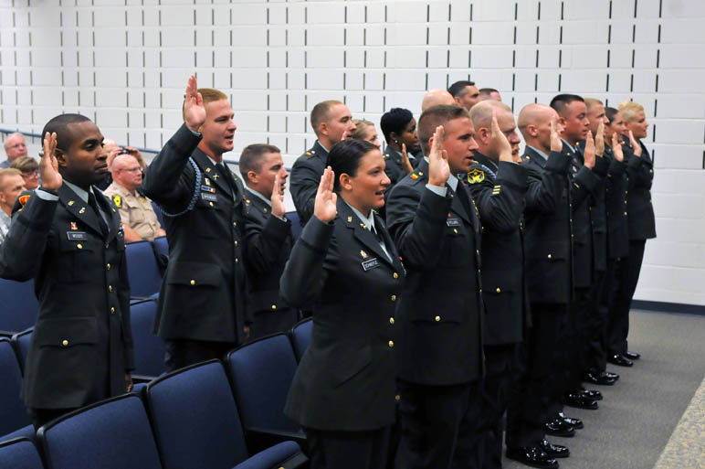 Illinois national guard enriched by more gold bars - Ocs officer candidate school ...