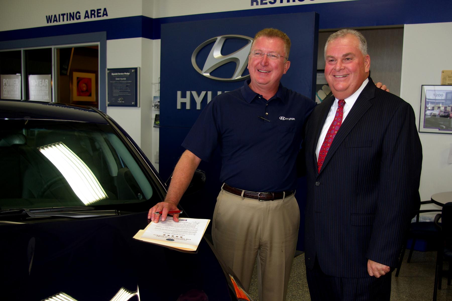 Beautiful Bennett Krause (right), Illinois Employer Support Of The Guard And Reserve  Employment Initiative Program Director, Stands With Mike Quimby Of Green  Hyundai, ...