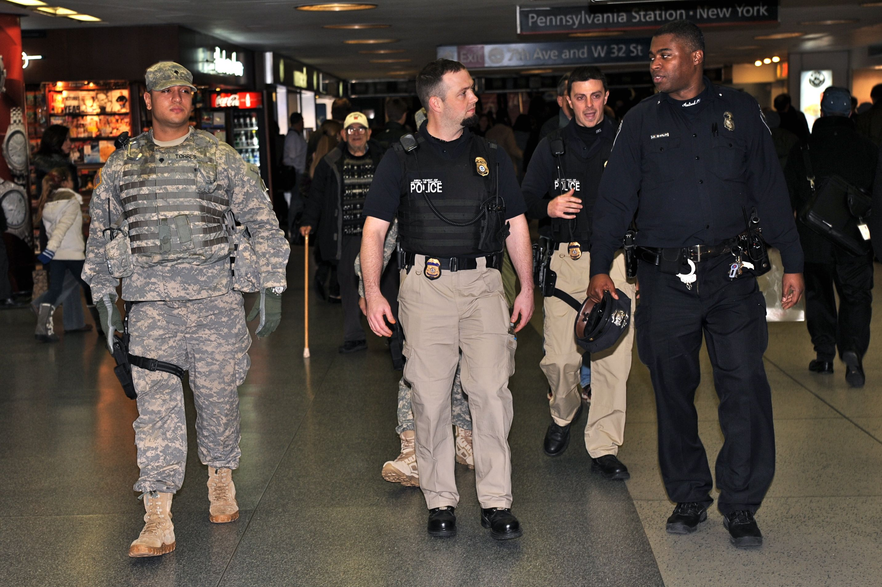 New York National Guard On Duty On New Year S Eve