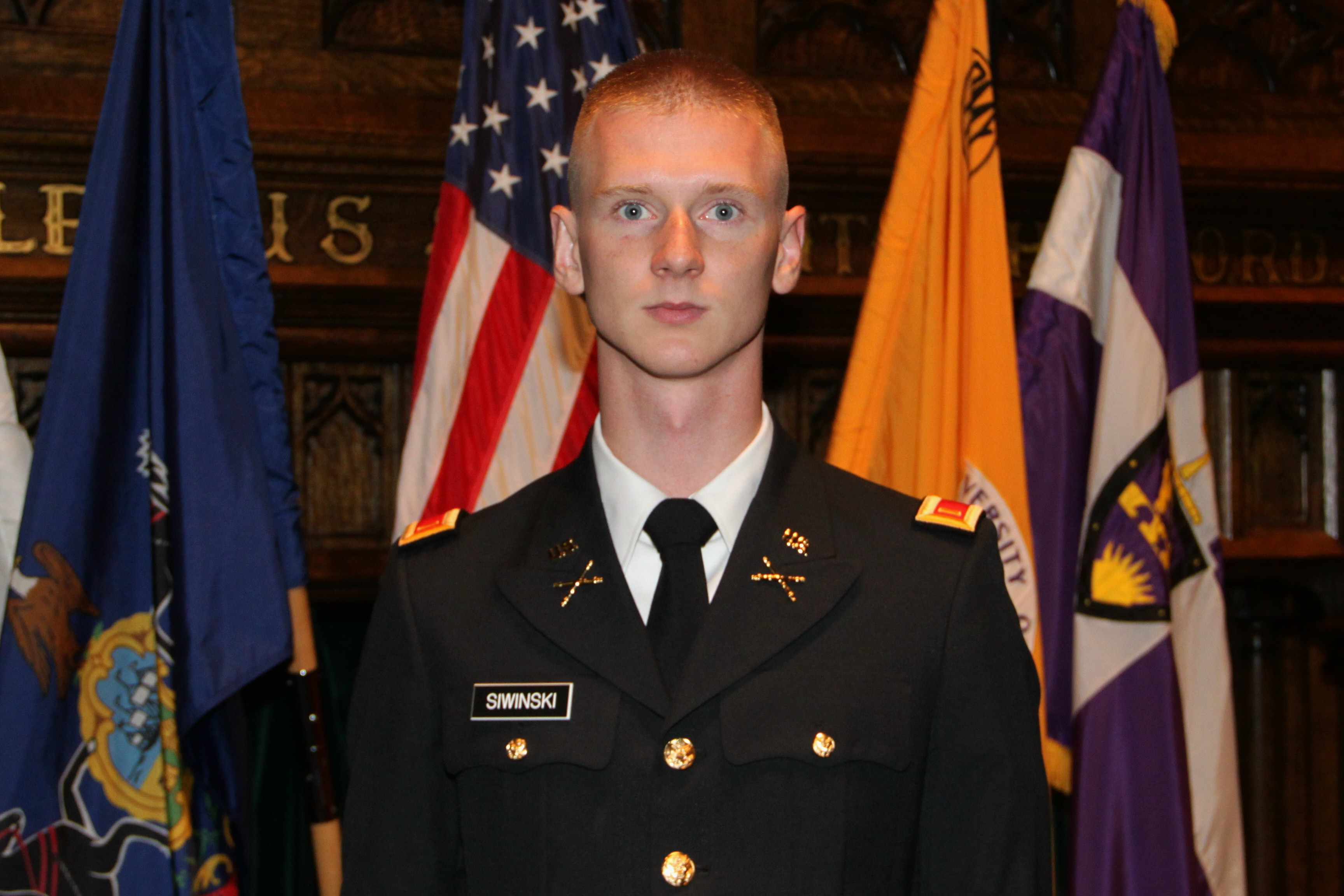 Stephen Siwinski of Towson Commissioned as Officer