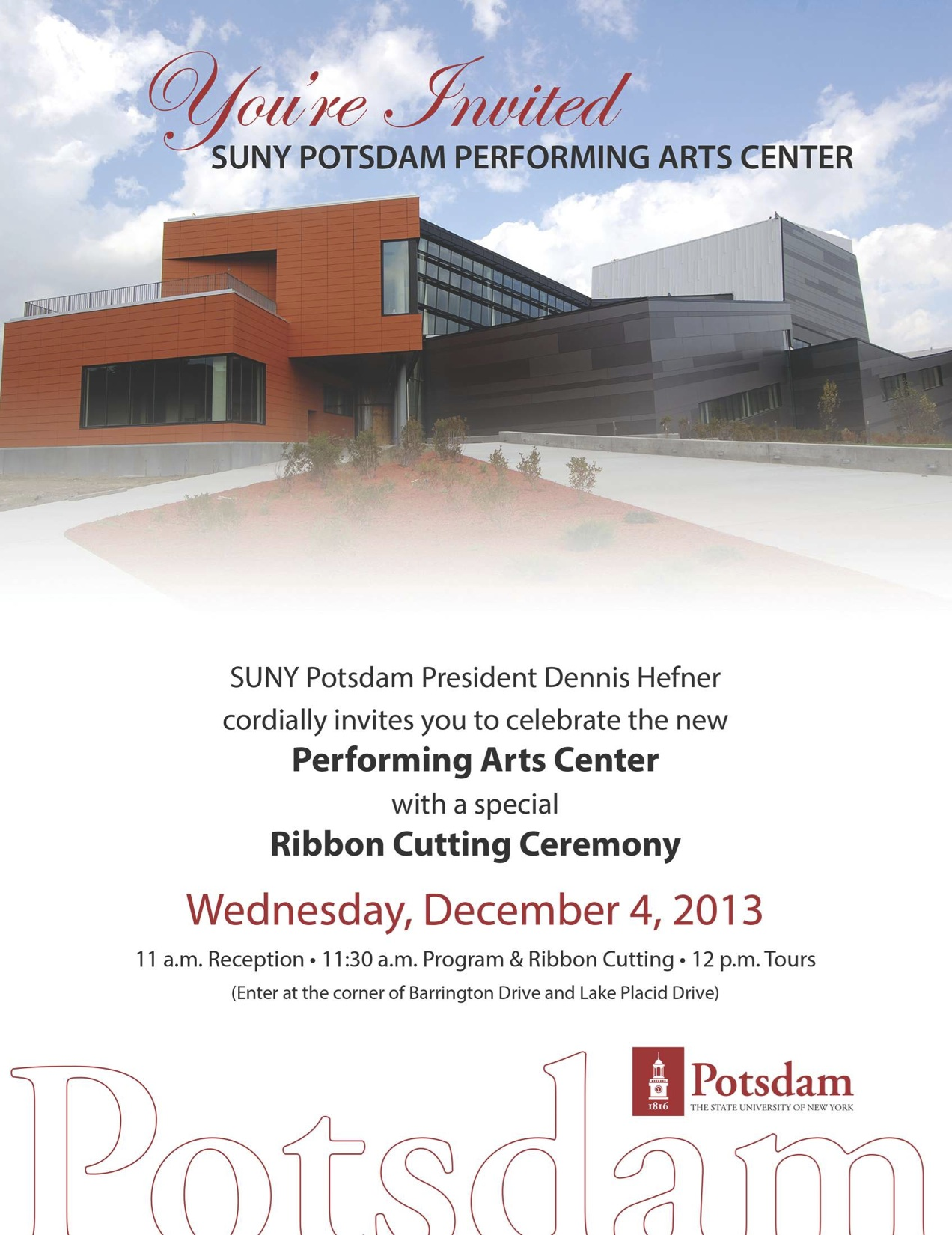 Suny Potsdam Celebrates Ribbon Cutting Ceremony For New Performing