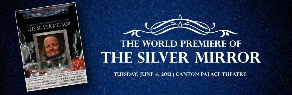 Silver mirror banner